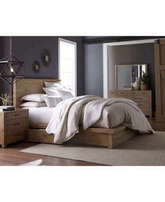 Abilene Solid Pine Storage Queen Platform Bed, Created For Macyu0027s    Furniture   Macyu0027s