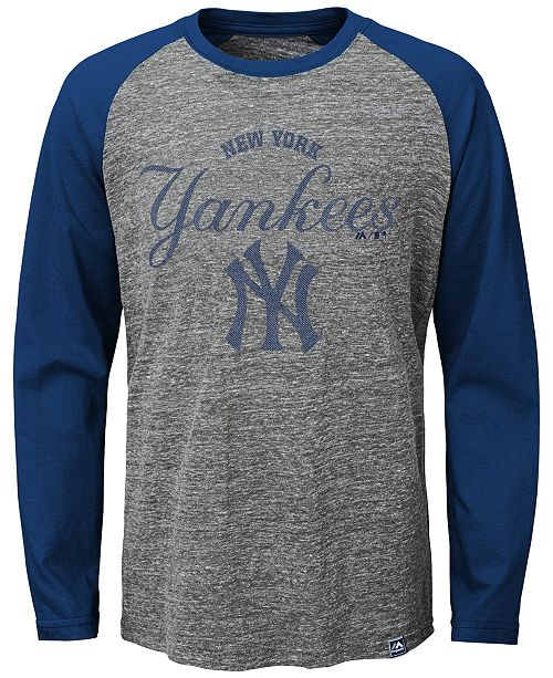 61cd31a54 Majestic York Yankees Fast Win Raglan Long-Sleeve T-Shirt, Big Boys ...