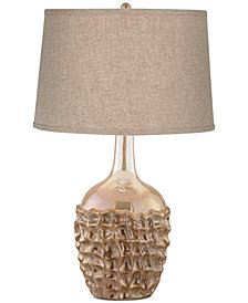 CLOSEOUT! kathy ireland home by Pacific Coast Ceramic Basket Weave Table Lamp