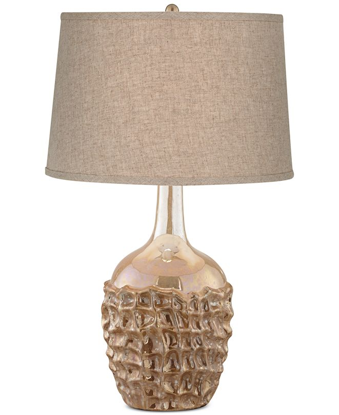 Kathy Ireland CLOSEOUT! home by Pacific Coast Ceramic Basket Weave Table Lamp