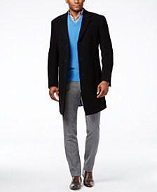 Tommy Hilfiger Addison Wool-Blend Overcoat Trim Fit