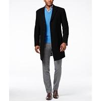 Tommy Hilfiger Addison Wool-Blend Overcoat Trim Fit Deals