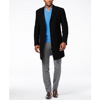 Tommy Hilfiger Addison Wool-Blend Overcoat Trim Fit Men's Jacket