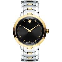 Movado Swiss Luno Two-Tone PVD Men's Stainless Steel Bracelet Watch (0607043)