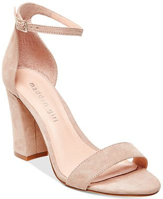 Madden Girl Bella Two Piece Block Heel Sandals Sandals