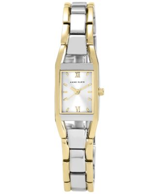 Image of Anne Klein Watch, Women's Two Tone Bracelet 10-6419SVTT