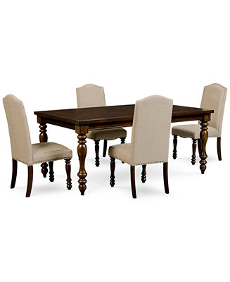 Kelso 5 pc dining set dining table and 4 side chairs for Macys dining table