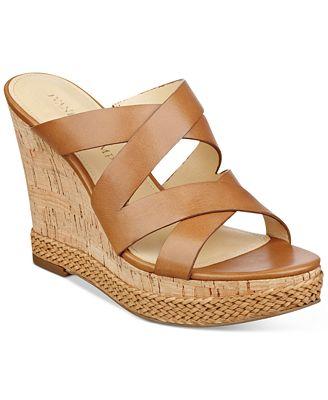 Ivanka Trump Habbie Strappy Wedge Platform Sandals