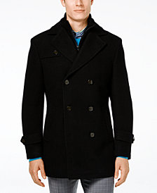 Lauren Ralph Lauren Labrada Double-Breasted Wool-Blend Peacoat