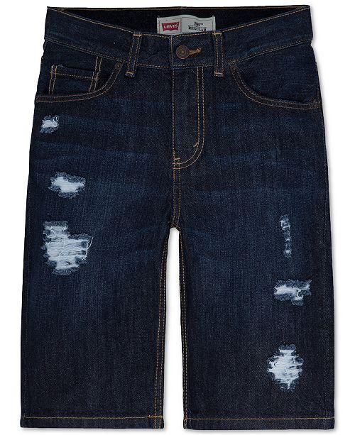 cde3bfedd6de78 Levi's Frayed Ripped 5-Pocket Denim Shorts, Big Boys & Reviews ...