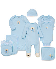 Little Me Baby Boys Cute Bear Gift Bundle