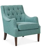 Glenis Tufted Accent Chair Quick Ship