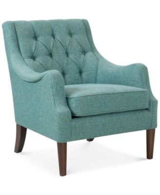 Glenis Tufted Accent Chair Quick Ship  sc 1 st  Macyu0027s : teal recliner - islam-shia.org