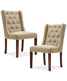 Beau Set of 2 Dining Chairs, Quick Ship