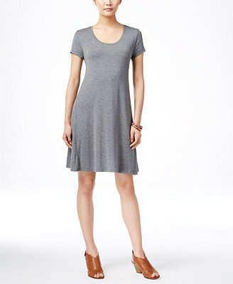 Short Sleeve A Line Dress, Created For Macy's by Style & Co