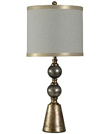 StyleCraft Cold River Glass-Accented Contemporary Table Lamp
