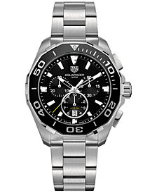 TAG Heuer Men's Swiss Chronograph Aquaracer Stainless Steel Bracelet Watch 43mm CAY111A.BA0927
