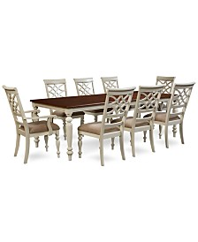 Windward Dining Furniture Collection, Created for Macy'sWindward 9-Pc. Dining Set (Dining Table, 6 Side Chairs & 2 Arm Chairs)