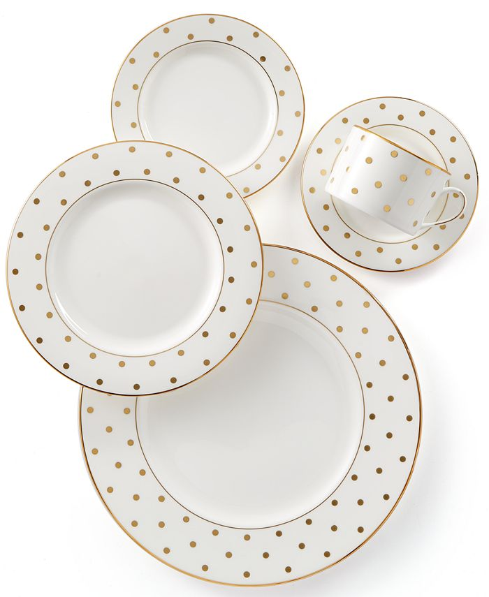 kate spade new york - Larabee Road Gold Collection Bone China 5-Pc. Place Setting