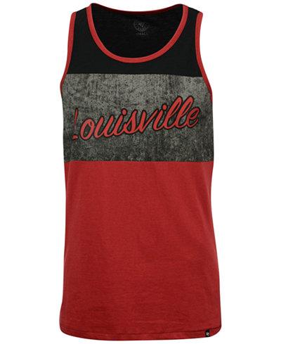 '47 Brand Men's Louisville Cardinals Split Line Tank Top