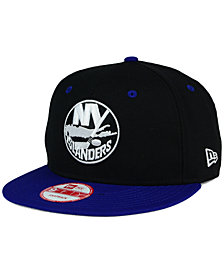 New Era New York Islanders Black White Team Color 9FIFTY Snapback Cap