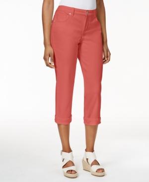 Style & Co Petite Tummy-Control Cuffed Capri Jeans
