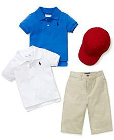 Baby Boys Sport Cap, Polo & Suffield Pants