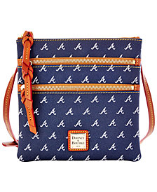 Dooney & Bourke Atlanta Braves Triple Zip Crossbody Bag