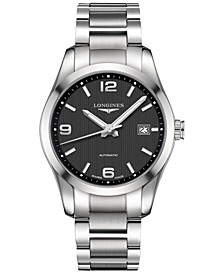 Men's Swiss Automatic Conquest Classic Stainless Steel Bracelet Watch 40mm L27854566