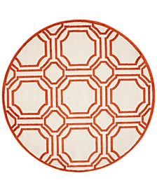 Amherst Indoor/Outdoor AMT411 7' x 7' Round Area Rug