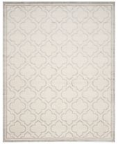 CLOSEOUT! Safavieh Amherst Indoor/Outdoor AMT412E Ivory/Light Grey Area Rugs