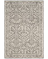 CLOSEOUT! Safavieh Evoke EVK242D Ivory/Grey Area Rugs