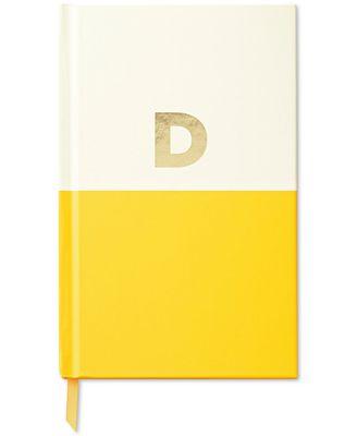 kate spade new york Dipped Initial Notebook