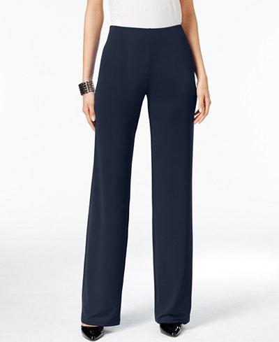 Alfani Knit Wide-Leg Trousers, Created for Macy's - Women - Macy's
