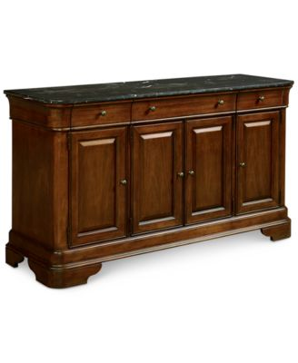 Bordeaux Marble Top Credenza, Created For Macyu0027s