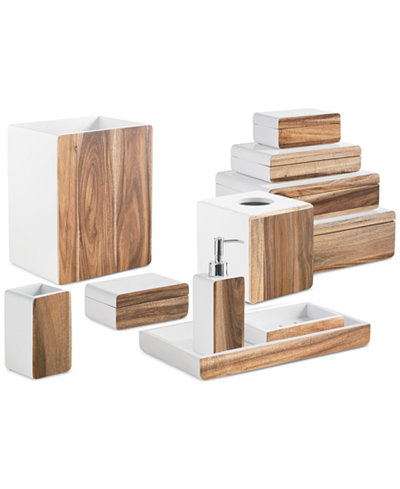 CLOSEOUT Kassatex Habitat Bath Accessories Collection Bathroom