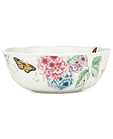 Lenox Butterfly Meadow Hydrangea Collection Serving Bowl