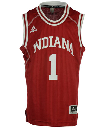 adidas Indiana Hoosiers Replica Basketball Jersey, Big Boys (8-20) #1