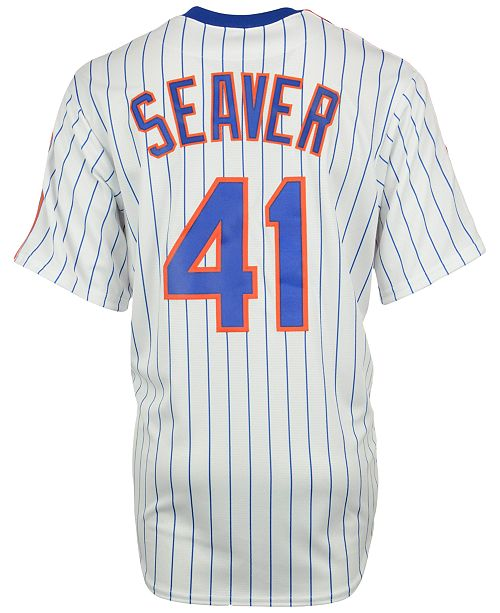 huge discount a4ecf 9a6cd Men's Tom Seaver New York Mets Cooperstown Replica Jersey