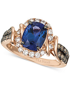 Le Vian® Chocolatier® Tanzanite (2 ct. t.w.) and Diamond (5/8 ct. t.w.) Ring in 14k Rose Gold, Created for Macy's