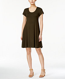 Style & Co Petite Short-Sleeve A-Line Dress, Created for Macy's
