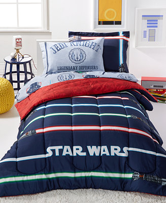 Star Wars Light Saber Twin 5 Piece Comforter Set Bed In