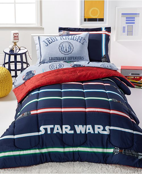 Disney Star Wars Light Saber 7 Pc Comforter Sets Bed In