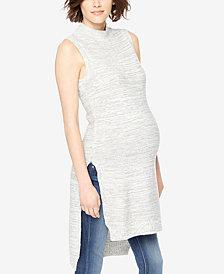 Motherhood Maternity Sleeveless Turtleneck Sweater