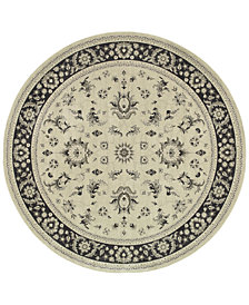 "Oriental Weavers Richmond Pira Ivory/Navy 7'10"" Round Rug"