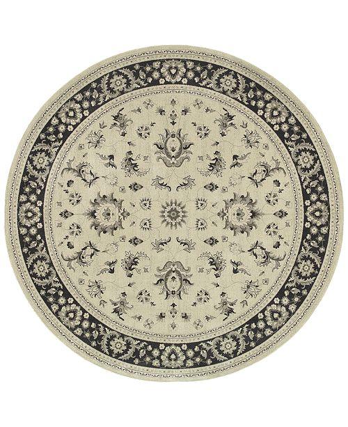 """Oriental Weavers Richmond Pira Ivory/Navy 7'10"""" Round Rug"""