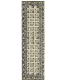 "Oriental Weavers Richmond Kandula Ivory/Grey 2'3"" x 7'6"" Runner Rug"
