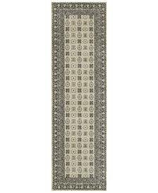 "Oriental Weavers Richmond Kandula Ivory/Grey 2'3"" x 7'6"" Runner Rug"