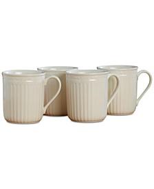 Dinnerware, Set of 4 Italian Countryside Mugs
