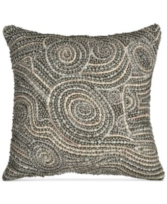 "Home Fuse Beaded 12"" x 12"" Decorative Pillow"